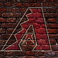 Diamondbacks Baseball Graffiti On Brick  by Movie Poster Prints