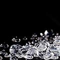 Diamonds On Black Background by Simon Bratt Photography LRPS