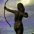 Diana-goddess Of The Hunt On B Street by Lenore Senior