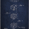 Dice Apparatus Patent from 1925 - Navy Blue by Aged Pixel