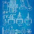 Diesel Internal Combustion Engine Patent Art 1898 Blueprint by Ian Monk
