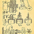 Diesel Internal Combustion Engine Patent Art 1898 by Ian Monk