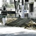 Digging A Ditch At The Side Of A Road In Roorkee by Ashish Agarwal
