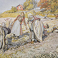 Digging Potatoes by Carl Larsson