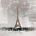 Digital-art Eiffel Tower II by Melanie Viola