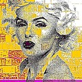 Digital Art Marilyn by HollyWood Creation By linda zanini