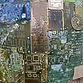 Digital D N A - Circuit Board Statue by Scott Lenhart
