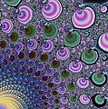 Digital Fractal Artwork Beautiful Colors by Matthias Hauser