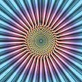Digital Mandala Flower by Phil Perkins