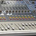 Digital Sound Mixing Console Closeup by Jit Lim