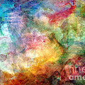 Digital Watercolor Abstract by Debbie Portwood