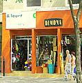 Dimona Latin Quarter Romantic Morning Summer Stroll Pretty Streets Montreal City Scene C Spandau by Carole Spandau