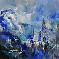 Dinant In Blue by Pol Ledent