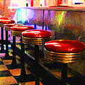 Diner - V2 - Square by Wingsdomain Art and Photography