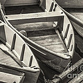 Dinghies Dockside Bw by Jerry Fornarotto