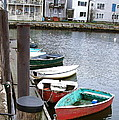 Dinghies Wait At The Pier by Susan Wyman
