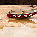 Dinghy At Low Tide In St Ives Cornwall by Louise Heusinkveld