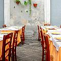 Dining Alfresco In Italy by Annie  DeMilo