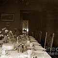Dining Room Table Circa 1900 by California Views Archives Mr Pat Hathaway Archives