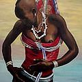 Dinka Girl In Beaded Wrap 2 by Joel Thompson