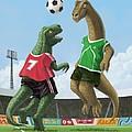 Dinosaur Football Sport Game by Martin Davey