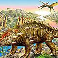 Dinosaur Panorama by MGL Meiklejohn Graphics Licensing