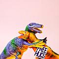 Dinosaurs Hugging by Juj Winn