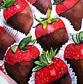 Dipped Strawberries by Lynne Atwood
