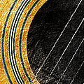 Diptych Wall Art - Macro - Gold Section 1 Of 2 - Vikings Colors - Music - Abstract by Andee Design