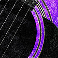 Diptych Wall Art - Macro - Purple Section 2 Of 2 - Vikings Colors - Music - Abstract by Andee Design