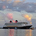 Disney Fantasy and fireworks