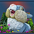 Disney Floral 05 Thumper Blue by Thomas Woolworth