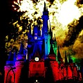Disney Night Fireworks by Benjamin Yeager