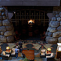 Disneyland Grand Californian Hotel Fireplace 02 by Thomas Woolworth