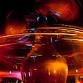 Disneyland Rockets At Night by Denise Dube