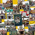 Disneyland Toontown Yellow Collage by Thomas Woolworth