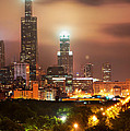 Distant Lights - Chicago Illinois Skyline by Gregory Ballos