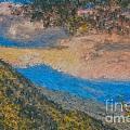Distant Mountains - Digital Impression Paint by Scott Hervieux
