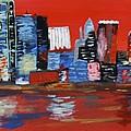 Distorted Dallas Skyline by Austin James
