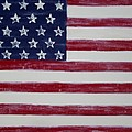 Distressed American Flag by Holly Anderson