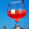 Diving In Red Wine Little People Big Worlds by Paul Ge
