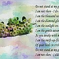 Do Not Stand At My Grave And Weep by Barbara Griffin