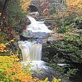 Doanes Falls Fall Foliage by John Burk