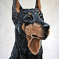 Doberman by Teresa  Peterson