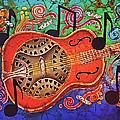 Dobro-slide Guitar-2 by Sue Duda
