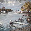 Dock At The Bay North Tonawanda by Ylli Haruni