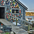 Dock House In Maine by Jon Glaser