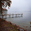 Dock On A Lake In Autumn by Jill Battaglia