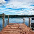 Dock On Summer Lake by Jo Ann Snover
