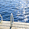 Dock On Summer Lake With Sparkling Water by Elena Elisseeva